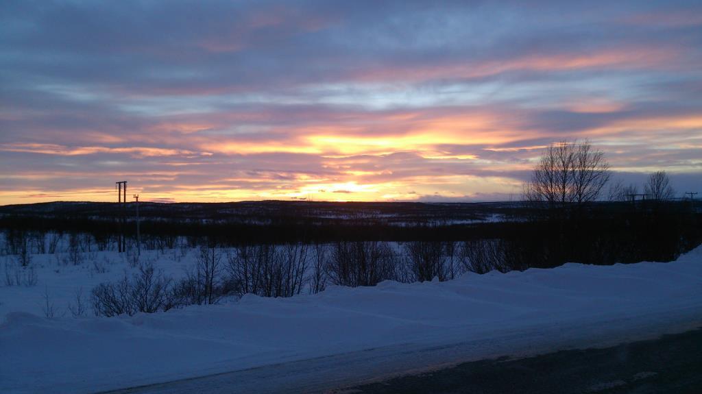 Vy över Finmark, på vägen mellan Karasjok och Lakselv